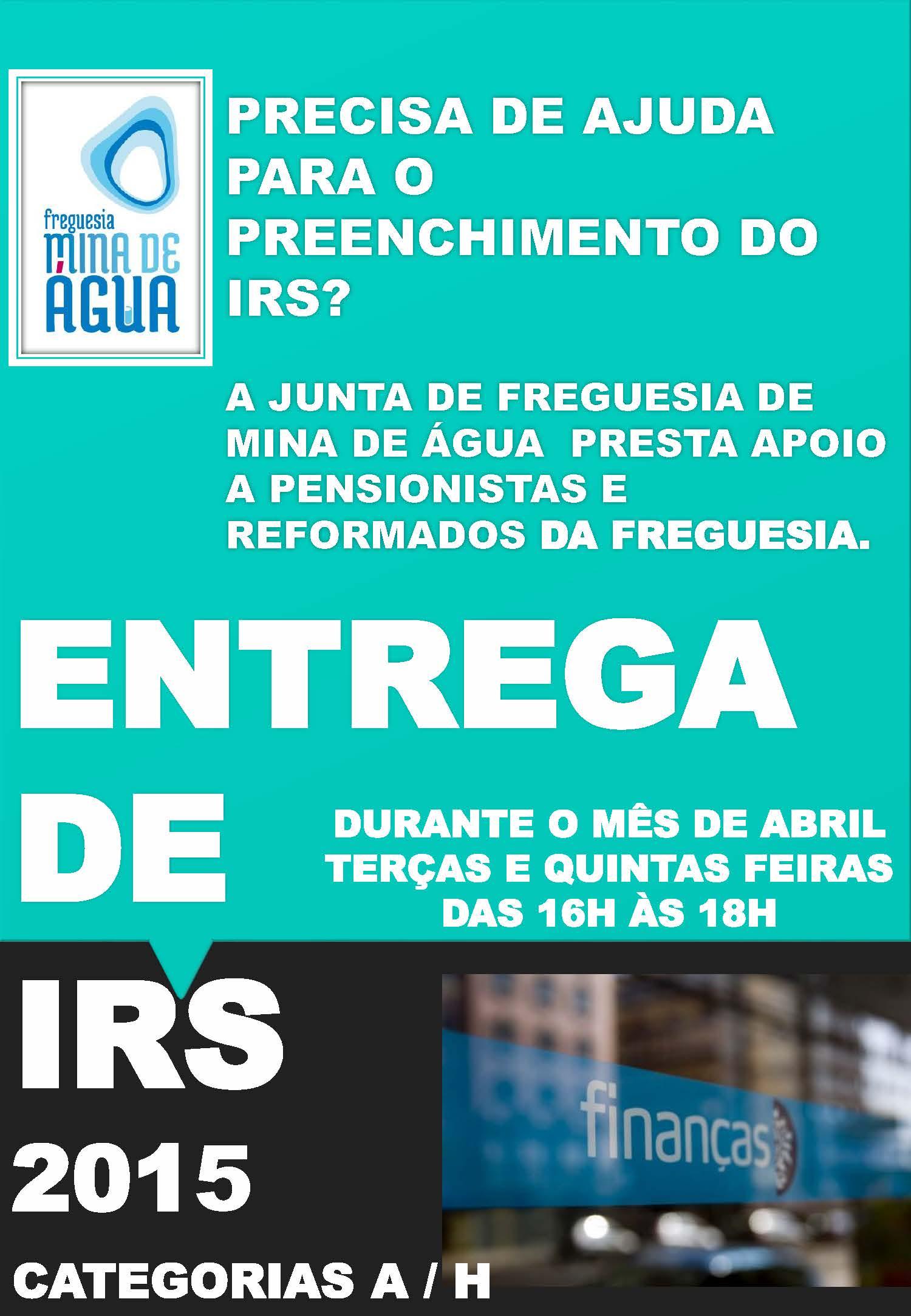 IRS de 2015 – Entrega gratuita