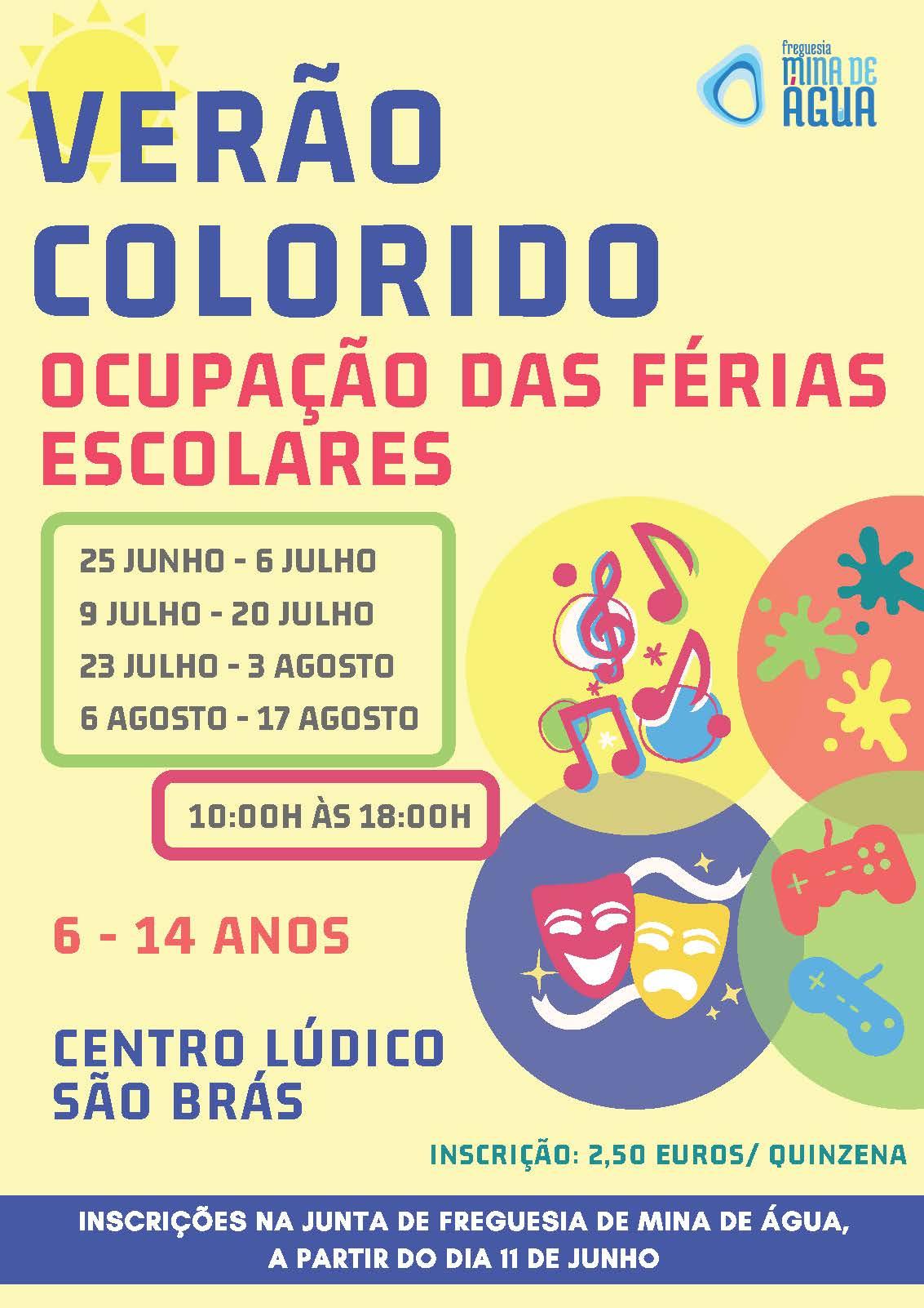 CARTAZ VERÃO COLORIDO 2018