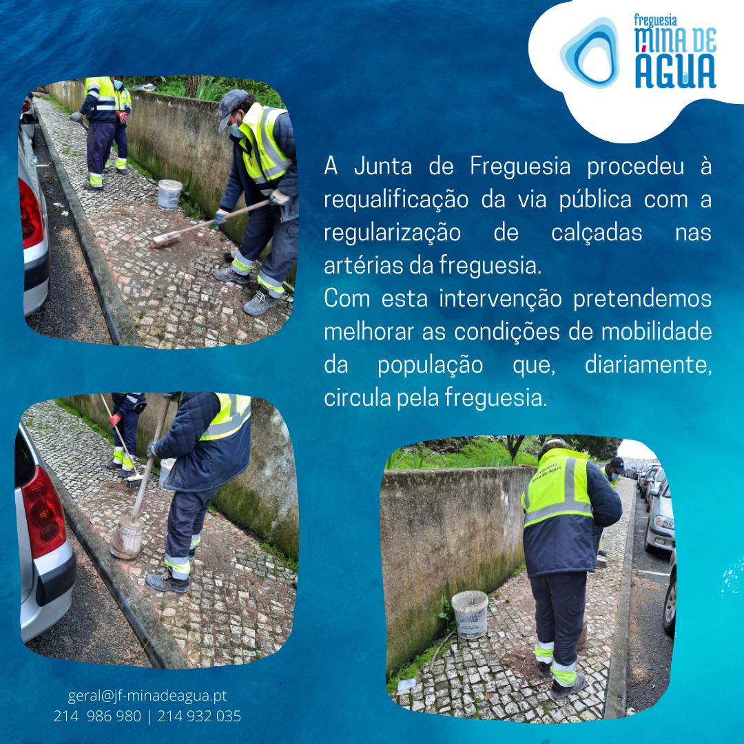 Manutenção e requalificação de calçadas